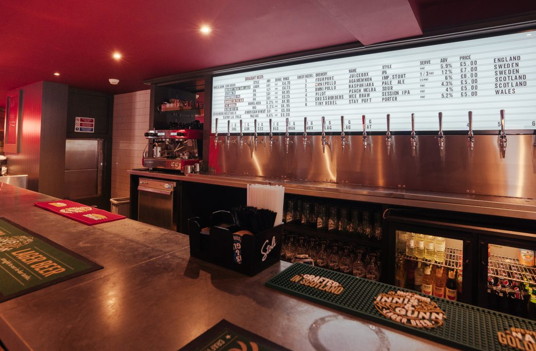 Dundee taproom bar 1