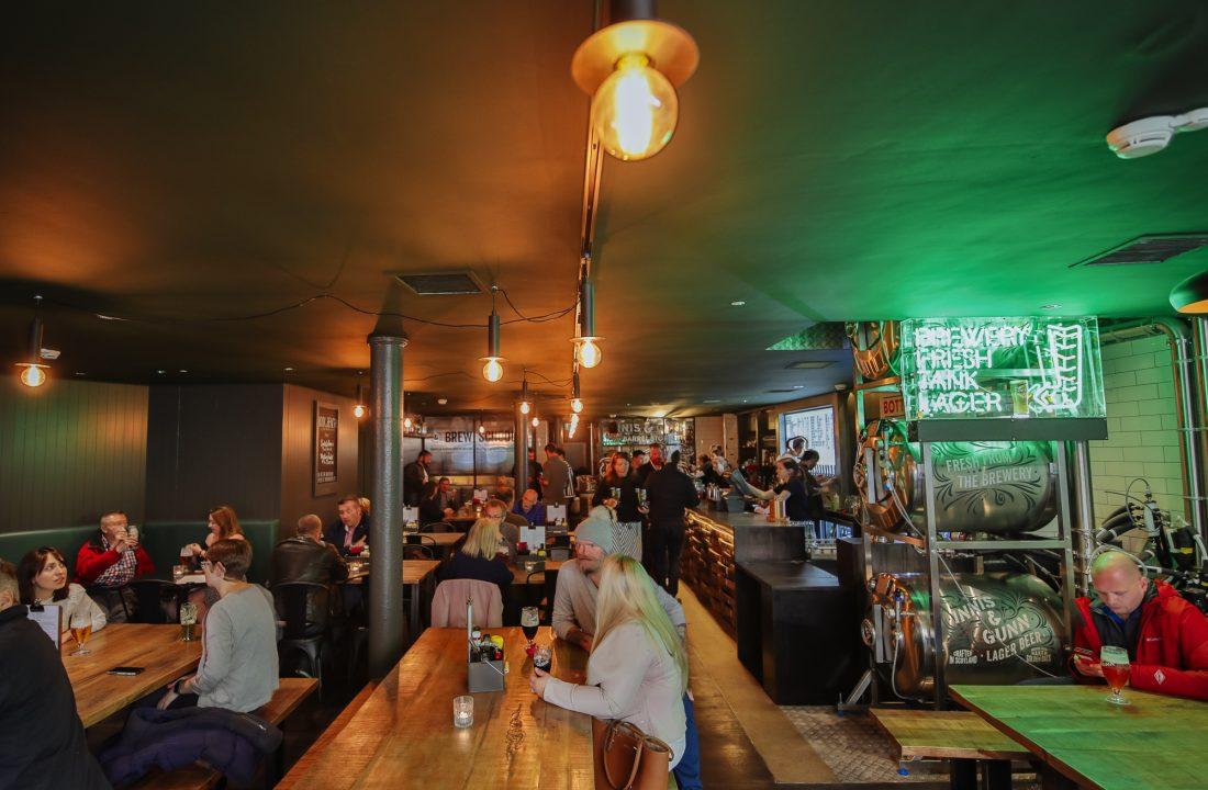 Glasgow taproom bar 2