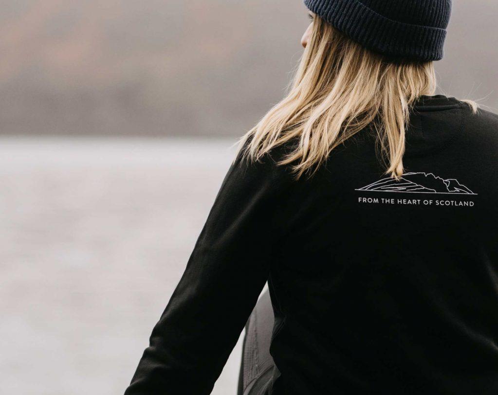 Inveralmond Sweatshirt back of girl